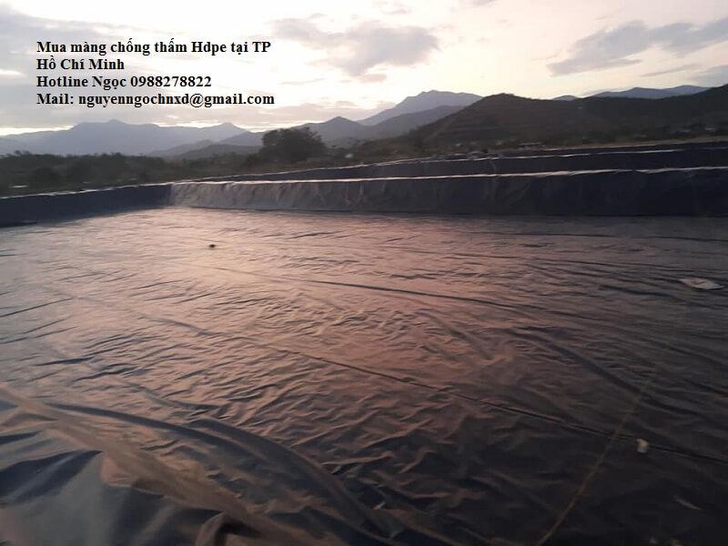 Màng chống thấm HDPE tại TP Hồ Chí Minh rẻ nhất